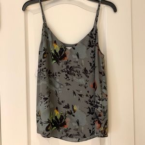 Babaton Extra Small Charcoal Grey Floral Everly Camisole